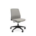 Buddyis3 220B, Bürodrehstuhl, Konferenzstuhl, Polster, grau, seitlich Front