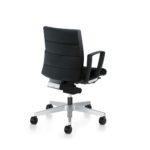 Champ 1C62 Bürodrehstuhl schwarz, mit Armlehnen,Rückansicht