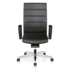 Champ 3C02 Bürodrehstuhl schwarz, mit Armlehnen,Front