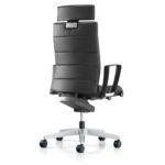 Champ 3C22 Bürodrehstuhl schwarz, mit Armlehnen, Rückansicht