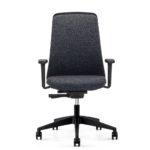 EVERYis1 176E Bürodrehstuhl grau, mit Armlehnen, Front