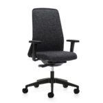 EVERYis1 176E Bürodrehstuhl grau, mit Armlehnen, seitlich vorn