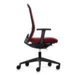 EVERYis1 176E Bürodrehstuhl rot, mit Armlehnen, seitlich