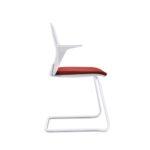 EVERYis1 580E Konferenzstuhl, Freischwinger, weiß rot mit Armlehnen, seitlich