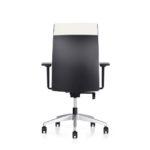 Famos 1F52 weiß, Bürodrehstuhl, mit Armlehnen Rückansicht