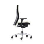Famos 1F52 weiß, Bürodrehstuhl, mit Armlehnen seitlich