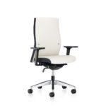 Famos 1F52 weiß, Bürodrehstuhl, mit Armlehnen siltich vorn
