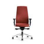 FlexoBalance 156GW, Bürodrehstuhl, rot, mit Armlehnen, Front_frontal_6803