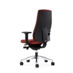 FlexoBalance 156GW, Bürodrehstuhl, rot, mit Armlehnen, Rückansicht