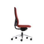 FlexoBalance 156GW, Bürodrehstuhl, rot, ohne Armlehnen, Seitenansicht