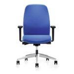 Geos 15G2 Bürodrehstuhl blau mit Armlehnen, Front
