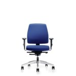 Goal 102G Bürodrehstuhl, mit Armlehnen, blau, Front