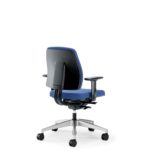 Goal 102G Bürodrehstuhl, mit Armlehnen, blau, Rückansicht