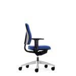 Goal 102G Bürodrehstuhl, mit Armlehnen, blau, Seitenansicht