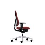 Goal 152GM, Bürodrehstuhl, mit Armlehnen, rot, Seitenansicht