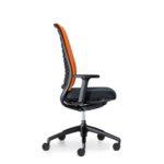 Hero 162H, Bürodrehstuhl, mit Armlehnen, schwarz orange, Seitenansicht