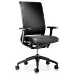 Hero 162H, Bürodrehstuhl, mit Armlehnen, schwarz, seitliche Front