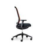 Hero 172H, Bürodrehstuhl, mit Armlehnen, schwarz orange, Seitenansicht