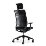 Hero 265H, Bürodrehstuhl, mit Armlehnen, mit Kopfstütze, schwarz, Rückansicht