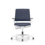 MOVYis3_13M3, Bürodrehstuhl, mit Armlehnen, grau weiß, Front