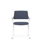 MOVYis3_46M0, Konferenzstuhl, Vierfuß, mit Armlehnen, grau, weiß, Front