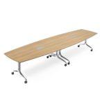 NESTYis3, Tisch Bootsform, Kirrschbaum, 2-teilig, 1100x3200mm