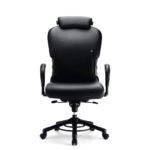 XXXL 24h O665 Bürodrehstuhl, mit Kopfstütze, Armlehnen, schwarz, Front