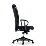 XXXL 24h O665 Bürodrehstuhl, mit Kopfstütze, Armlehnen, schwarz, Seitenansicht