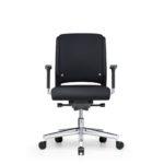 Xantos X132 Bürodrehstuhl, Armlehnen, schwarz, Front