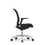 Xantos X132 Bürodrehstuhl, Armlehnen, schwarz, Seitenansicht _profil_schwarz_AL