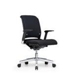 Xantos X132 Bürodrehstuhl, Armlehnen, schwarz, seitliche Front