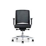 Xantos X142, Bürodrehstuhl, Armlehnen, Netzrücken, schwarz, Front