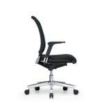 Xantos X262, Bürodrehstuhl, mit Armlehnen, schwarz, Seitenansicht