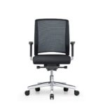 Xantos X272, Bürodrehstuhl, mit Armlehnen, Netzrücken, schwarz, Front