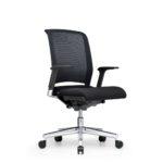 Xantos X272, Bürodrehstuhl, mit Armlehnen, Netzrücken, schwarz, seitliche Front