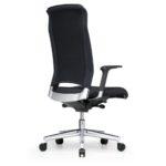 Xantos X362, Chefsessel, Bürodrehstuhl, mit Armlehnen, hoher Rücken, schwarz, Rückansicht