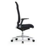 Xantos X362, Chefsessel, Bürodrehstuhl, mit Armlehnen, hoher Rücken, schwarz, Seitenansicht