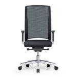 Xantos X372, Chefsessel, Bürodrehstuhl, Netzrücken, Armlehnen, schwarz, Front