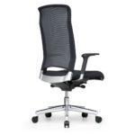 Xantos X372, Chefsessel, Bürodrehstuhl, Netzrücken, Armlehnen, schwarz, Rückansicht
