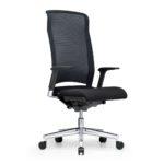 Xantos X372, Chefsessel, Bürodrehstuhl, Netzrücken, Armlehnen, schwarz, seitliche Front