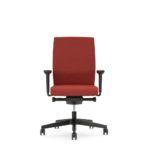 YOSTERis3_152Y, Bürodrehstuhl, rot, mit Armlehnen, Front