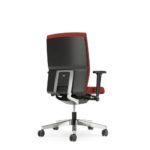 YOSTERis3_152Y, Bürodrehstuhl, rot, mit Armlehnen, Rückansicht